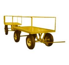 1121 a 1124. Carro con dos barandas fijas y dos desarmables