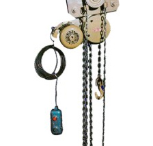 Aparejo eléctrico a cadena con carro manual a cadena